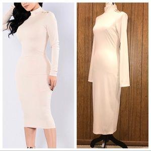 Fashion Nova Maxi Long Sleeve Dress NWOT